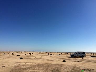 The barren Swakopmund landscape
