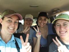 A happy crew of birders celebrating