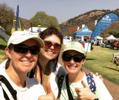 Melissa, Ainsley and I enjoying the African Birdfair