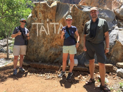 Melissa, Patrik, and I after finding the Taita Falcon