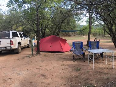 Our beautiful Punda Maria campsite