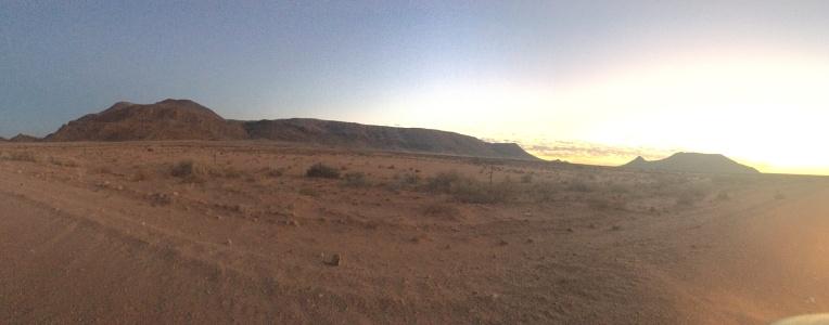 Panorama of sunrise just before the Koa Dunes