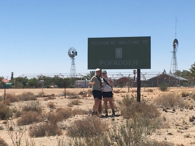 What could be more Northern Cape then a photo with the Pofadder sign plus two windmills!