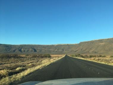 The Karoo Plateau rising out of the coastal plain