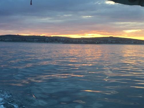 Sunrise in the lagoon